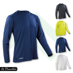 Spiro Mens Quick-Dry Long Sleeve T-Shirt Gym Top Cycling Running Jogging Sports