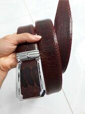 BROWN GENUINE ALLIGATOR CROCODILE LEATHER SKIN MEN'S BELTS 3.8cm width