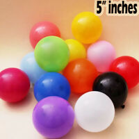 QUALITY 5 inch Latex Balloons Packs Of 10 25 50 All Colours Nice For All Parties
