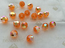 24 Swarovski #5000 8mm Crystal Sun AB Faceted Round Beads