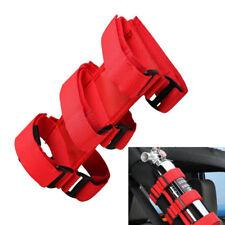 Red Fire Extinguisher Belt For Jeep Wrangler Car Roll Bar Holder Tool D
