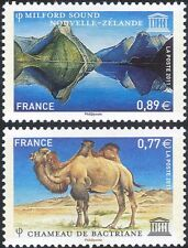 France (UNESCO) 2011 Camel/Sea/Mountains/Animals/Nature/Heritage 2v set (n45863)