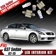 18PCS Pure White LED Interior Lights Package Kit for 2007-2015 Infiniti G37 Q50