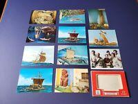 11 Vintage Norway Postcards Pack,  Kon-Tiki Museum, Oslo Norway.
