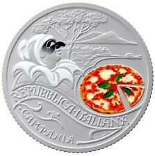 Moneta 5 euro Italia Pizza e Mozzarella fdc PRENOTAZIONE