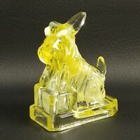 #1 CORNSILK JB SCOTTIE Boyd's Crystal Art Glass Scottish Terrier Scotty Dog 1983