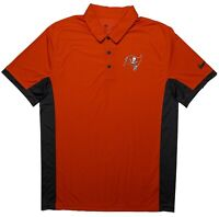 Nike Tampa Bay Buccaneers Bucs NFL Dri-Fit Polo Shirt Red Large L ~ New