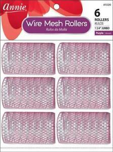 """Annie Jumbo Wire Mesh Rollers 6-Pack - 1 3/4"""" Diameter - #1026 *PURPLE*"""