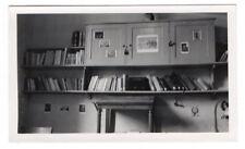 PHOTO Intérieur Appartement Maison 1948 Bibliothèque Floue Meuble Image Livre