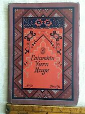 Antique 1925 Columbia Yarn Rugs Booklet Rug Designs Color Illustrations
