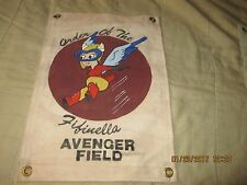 WWII USAAF WASP  ORDER OF THE FIFINELLA AVENGER FIELD WALL FLAG