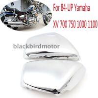 Pair Seite Panel Abdeckung Chrom Für 84-UP Yamaha XV 700 750 1000 1100 Virago