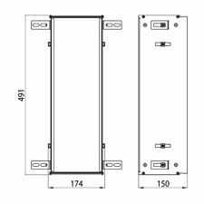 EMCO Asis Module 2.0 Einbaurahmen für Toilettenbürstengarnitur Unterputzmodul