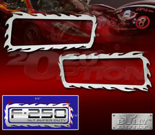 STAINLESS FLAME FENDER EMBLEM LOGO TRIM FOR FORD F-250 F-350 XL XLT SUPERDUTY