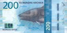 NORWAY 200 KRONER P-NEW 2017 (2016) UNC