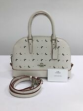 Coach * Mini Sierra Crossbody Satchel Bag Perf Leather in Chalk COD Paypal