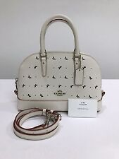 Coach * Mini Sierra Crossbody Satchel Bag Perf Leather in Chalk COD Pay