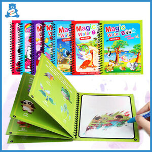Reusable Coloring Book Magic Water Drawing Book Sensory Early Education Toys