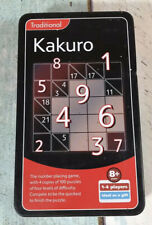 Kakuro Game in a Tin. New & Unused Age8+yrs 1-4 players. 4 Levels of Difficulty.