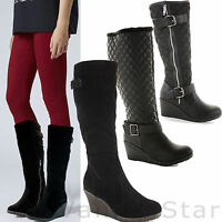 WOMENS LADIES CHUNKY PLATFORM HEEL SEXY OVER THE KNEE THIGH HIGH STRETCH BOOTS
