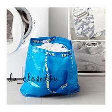 Lot of 2 IKEA BAGS Frakta Medium Blue Bag Shopping Grocery Laundry Beach Tote