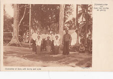 K 681 - Indonesia, JAVA, Chancellor of Solo with family und suite, ungelaufen
