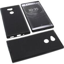 BOLSA para Sony Xperia XA2 MUY Funda protectora de móvil TPU GOMA FUNDA NEGRA