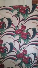 Springs Bath Fashions Fabric Shower curtain, floral, red white green blue - 248
