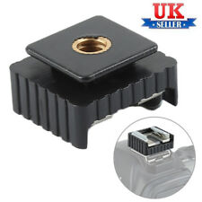 UK FLASH HOT SHOE MOUNT ADAPTER TO 1/4 SCREW THREAD TRIPOD FOR CANNON 580EX II #