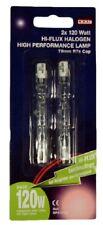 2 x 78mm 120w Halogen Tube Bulb Light Flood Light Security Bulbs