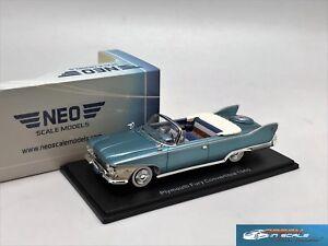 Plymouth Fury Convertible 1960 Metallic Turqois/White NEO44693 1:43
