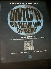 UMC'S 1991 Promo Poster Ad THANKS...BLUE CHEESE mint