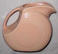 """Pink 7 1/2"""" Marked Fiesta Pottery China Pitcher"""