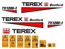 Terex Albert Benford Roller TV1200 Decalcomanie Adesivi