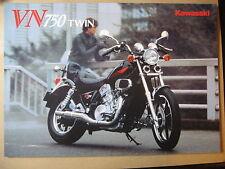 MOTO KAWASAKI VN 750 VULCAN 1984 CATALOGUE DEPLIANT PROSPECTUS BROCHURE