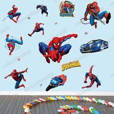 Large SPIDERMAN Wall Stickers Boys Kids Nursery Decor Art Decal Vinyl Removable