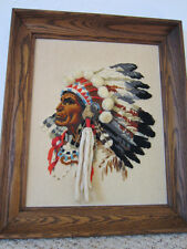 "FRAMED, NEEDLE POINT PORTRAIT OF ""WILD WEST"" MALE IMAGE"