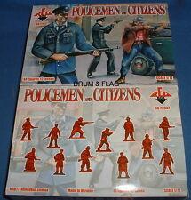 Redbox 72037 policías & ciudadanos. policía. escala 1/72