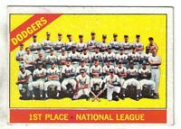 1966 Topps baseball card #238 Los Angeles Dodgers Team, Koufax, Drysdale  EX+
