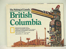 Vintage 1992 National Geographic Map British Columbia