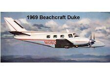 1969 Beach Craft Duke Plane  Refrigerator  Magnet