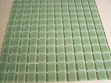 "1""x1"" Crystal Glass Tile Mosaic Kitchen Backslash Bathroom Wall: green 1sqft"