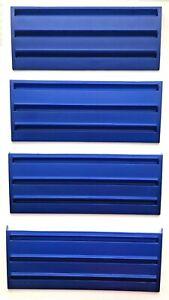 Rummikub Tile Holder Tray Set of 4 Game Replacement Racks Blue 1997 Crafts Hobby