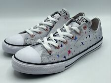 Converse CTAS Ox Juniors Girls Size 6 Grey Canvas with multi Stars 665360F New