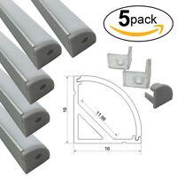 5x 3.3ft V-Shape Aluminum Channel Track Rail Profile For 11.99mm LED Strip Light