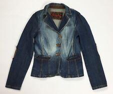 Stefanel giacca giacchetta jeans jacket donna 44 usato blu azzurro vintage T533