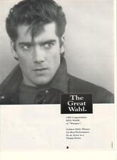 Ken Wahl of Wiseguy 1990 Ad- CBS congratulates/Golden Globe winner