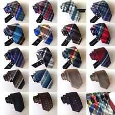 Hot 5 PCS Skinny Mens 100% Silk Tie Necktie Plaids Striped JACQUARD Neck Ties