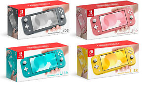 NEW Nintendo Switch Lite Handheld Console (Gray/Yellow/Turquoise) REGION FREE