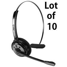 10x Trucker Over Head Bluetooth Wireless Noise Cancelling Headset with Boom Mic